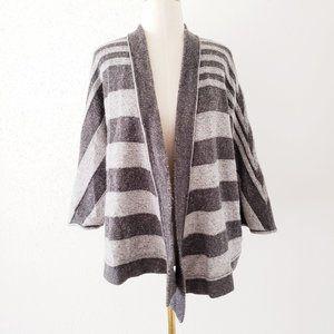 LOFT Women's Small Gray Kimono Open Knit Cardigan